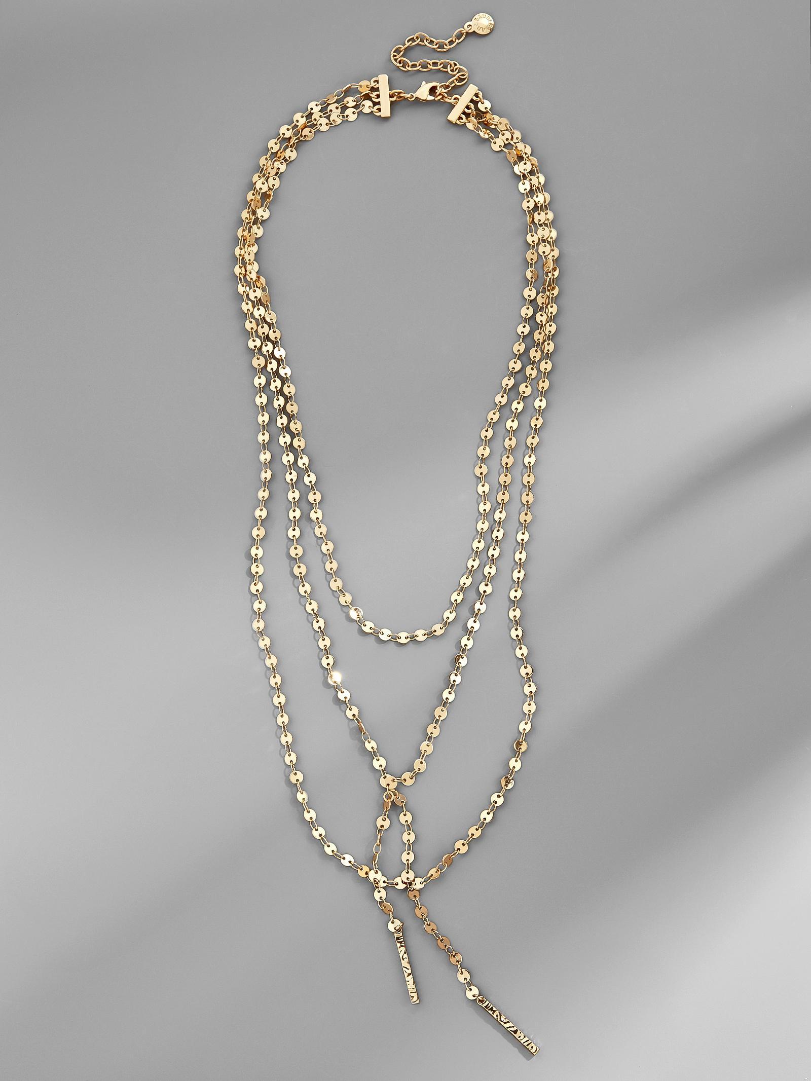 Lyst baublebar amber y choker necklace in metallic view fullscreen aloadofball Choice Image