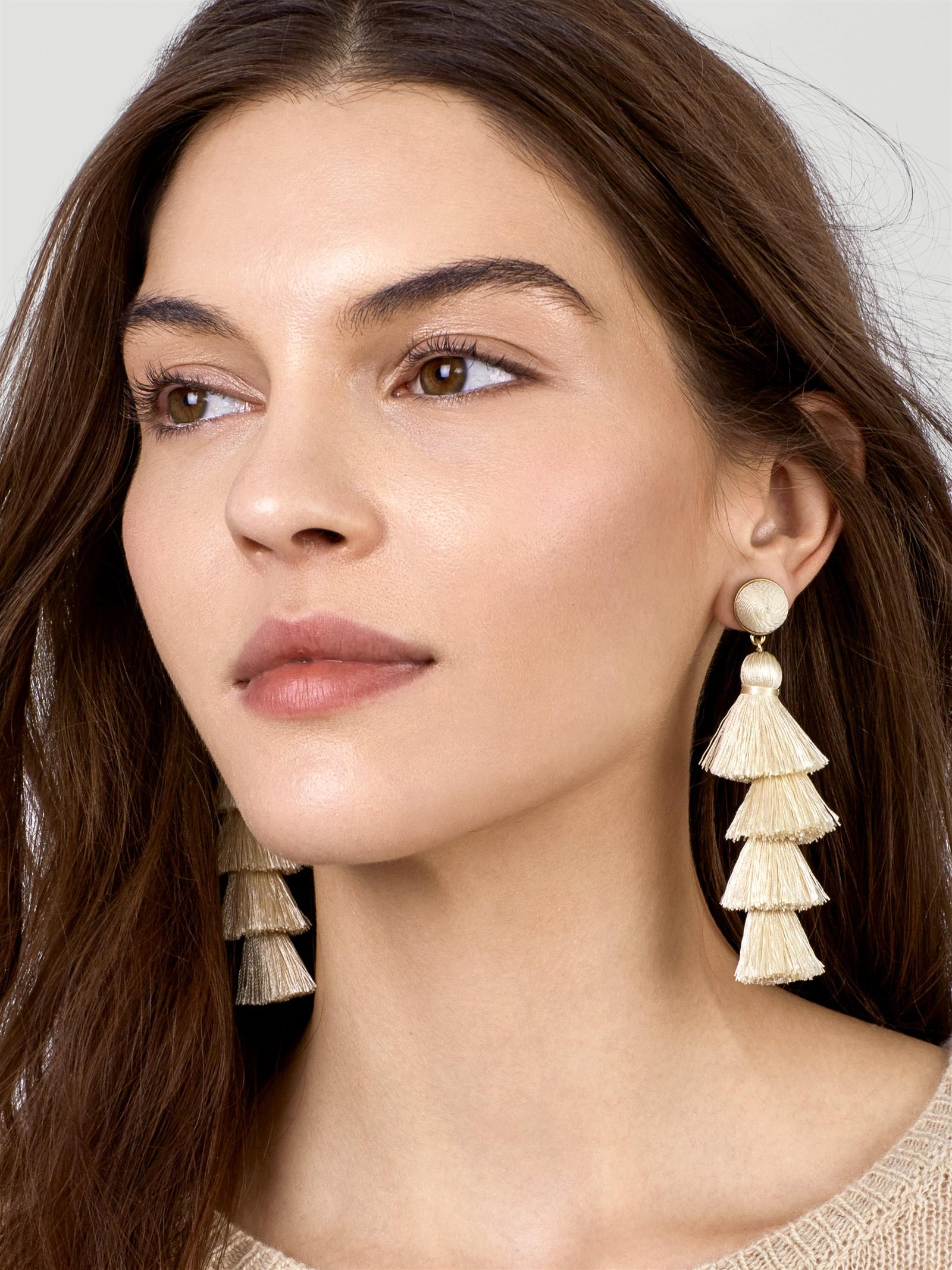 6c48a9f25 BaubleBar Gabrianna Tassel Earrings in White - Lyst