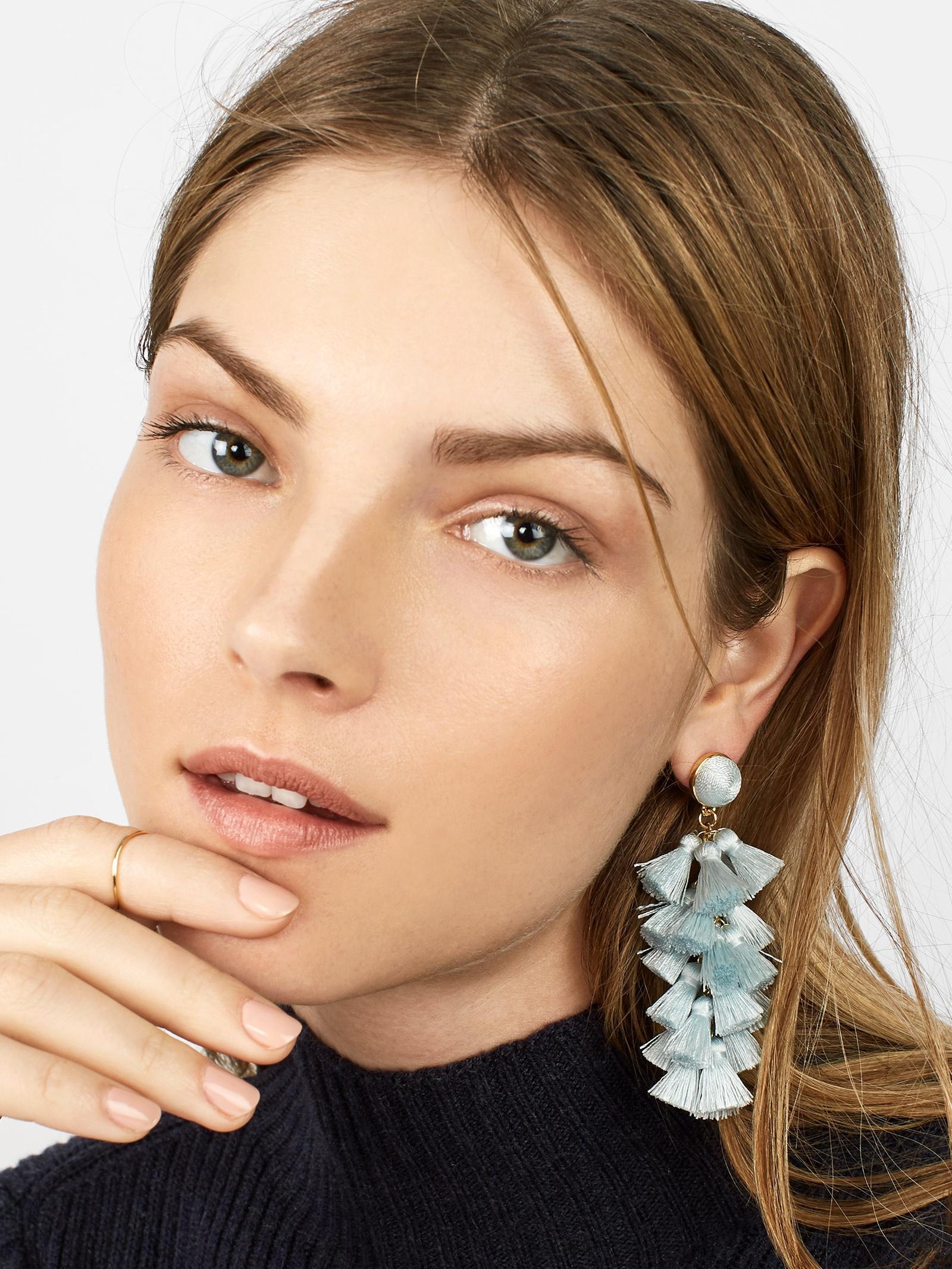 5080b0a43 BaubleBar Contessa Tassel Earrings in Blue - Lyst