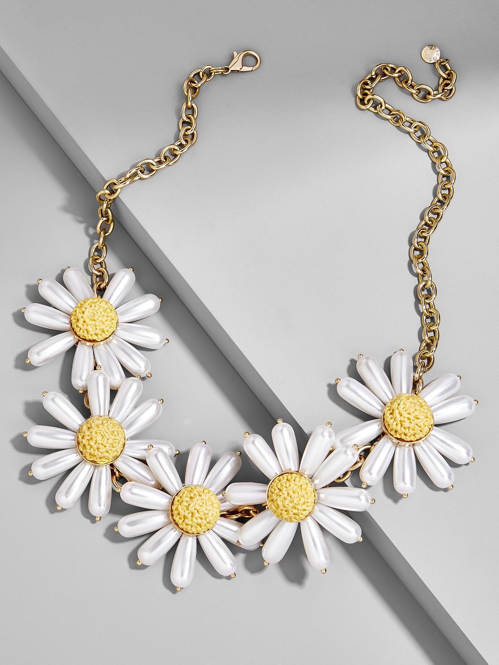 Lyst Baublebar Daisy Flower Statement Necklace