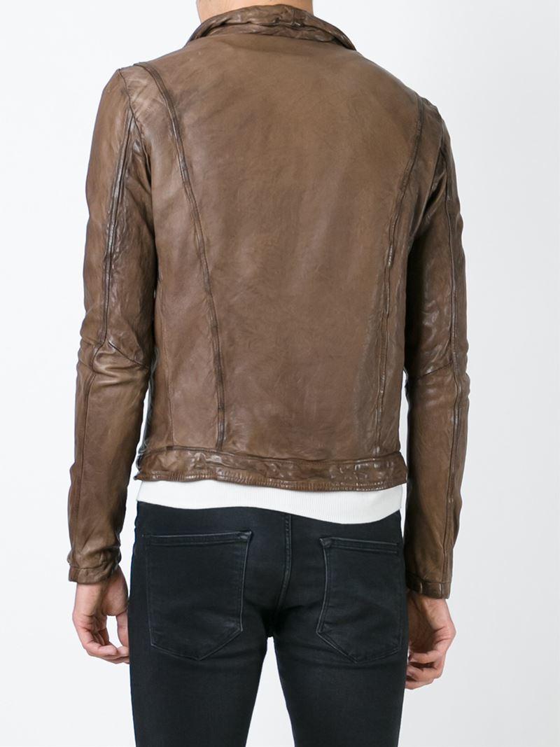 Lyst Giorgio Brato Leather Jacket In Brown For Men