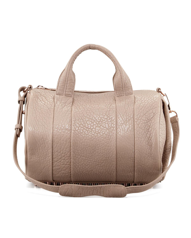 alexander wang rocco studbottom satchel duffel bag in. Black Bedroom Furniture Sets. Home Design Ideas