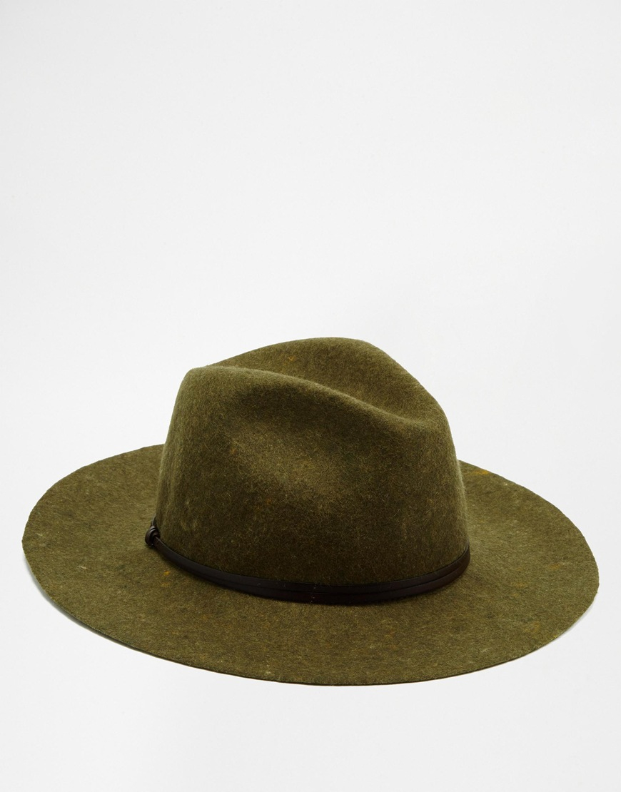 a99ff0f9d1c89 Catarzi Wide Brim Unstructured Fedora Hat in Green for Men - Lyst