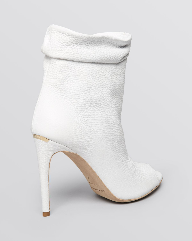 Burberry Peep Toe Booties Burlison High Heel In White Lyst