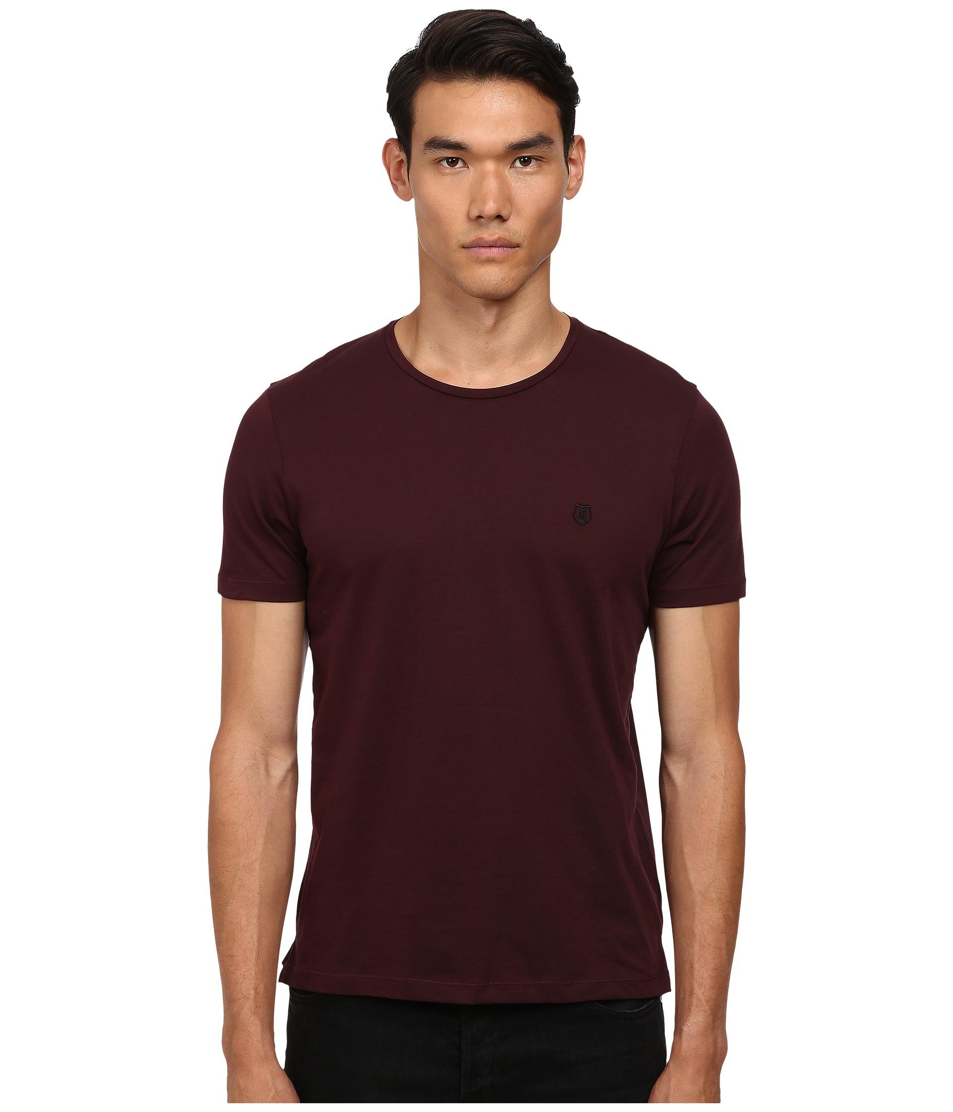 The kooples sport pima cotton crew neck t shirt in purple for Pima cotton crew neck t shirt