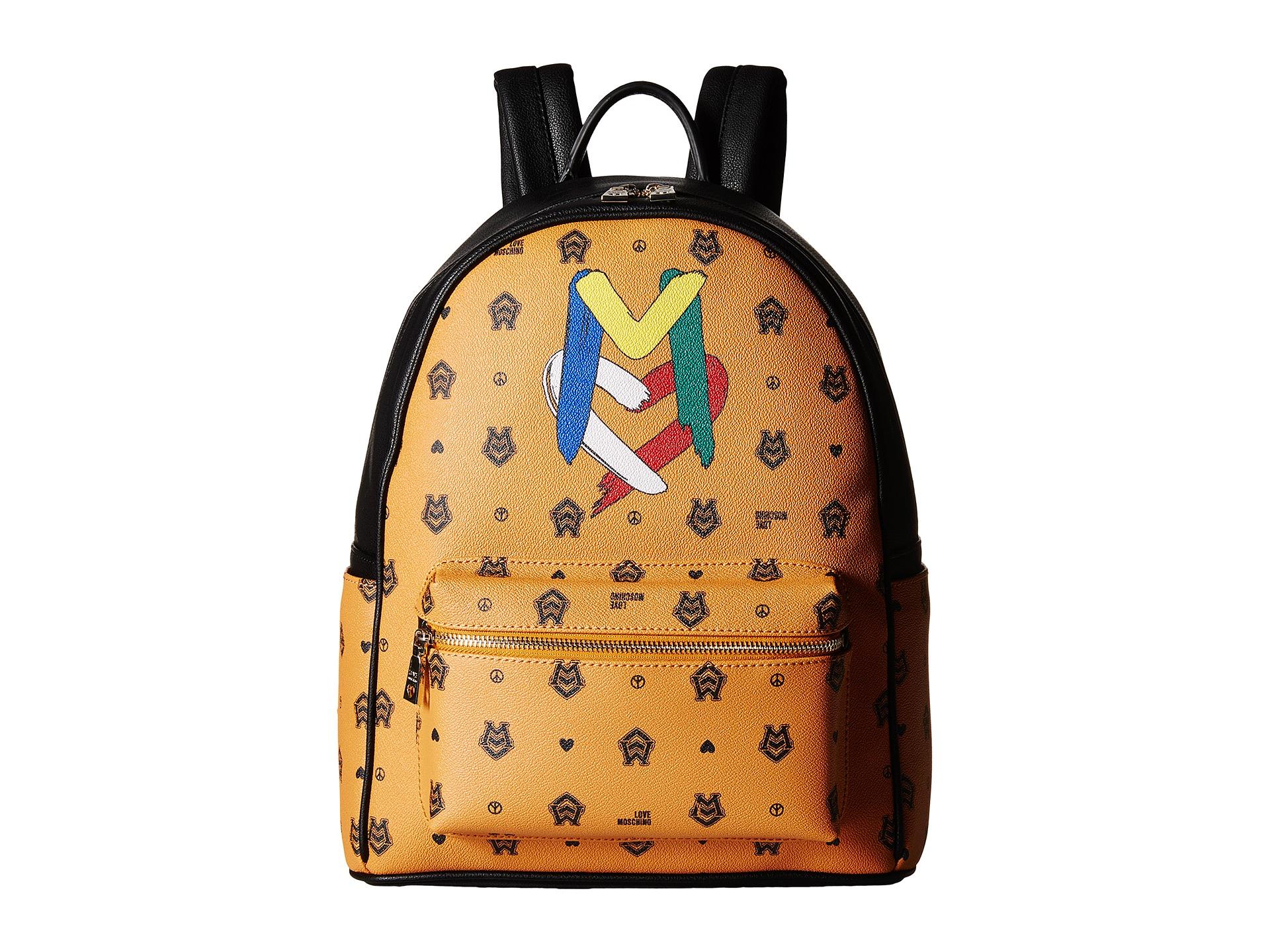 639d4b35ef Love Moschino Monogram Backpack in Orange - Lyst
