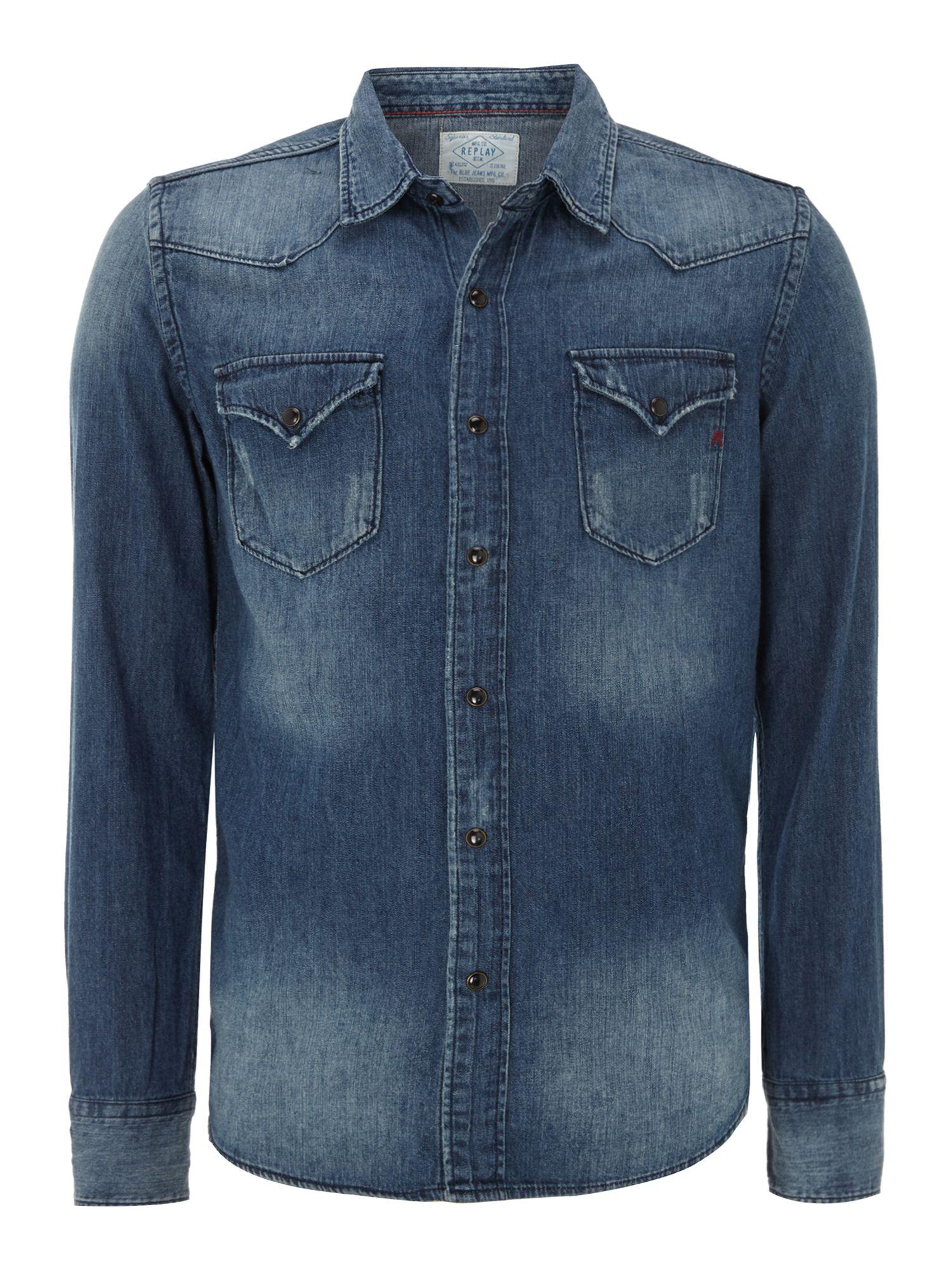 denim shirt pockets - photo #15