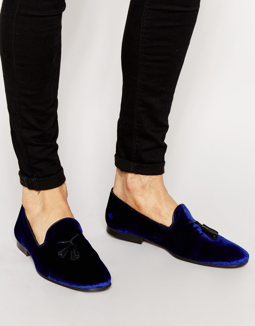 ASOS DESIGN loafers in navy and white stripe for sale cheap real hvYLXLEes