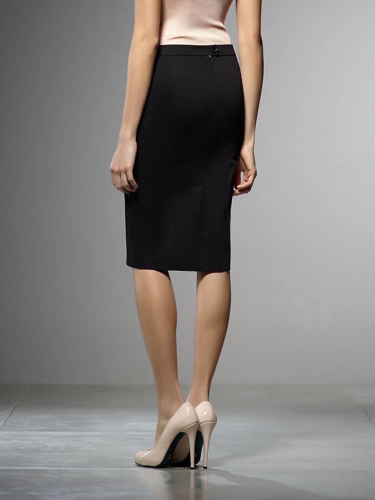 patrizia pepe pencil skirt in cotton stretch gabardine in