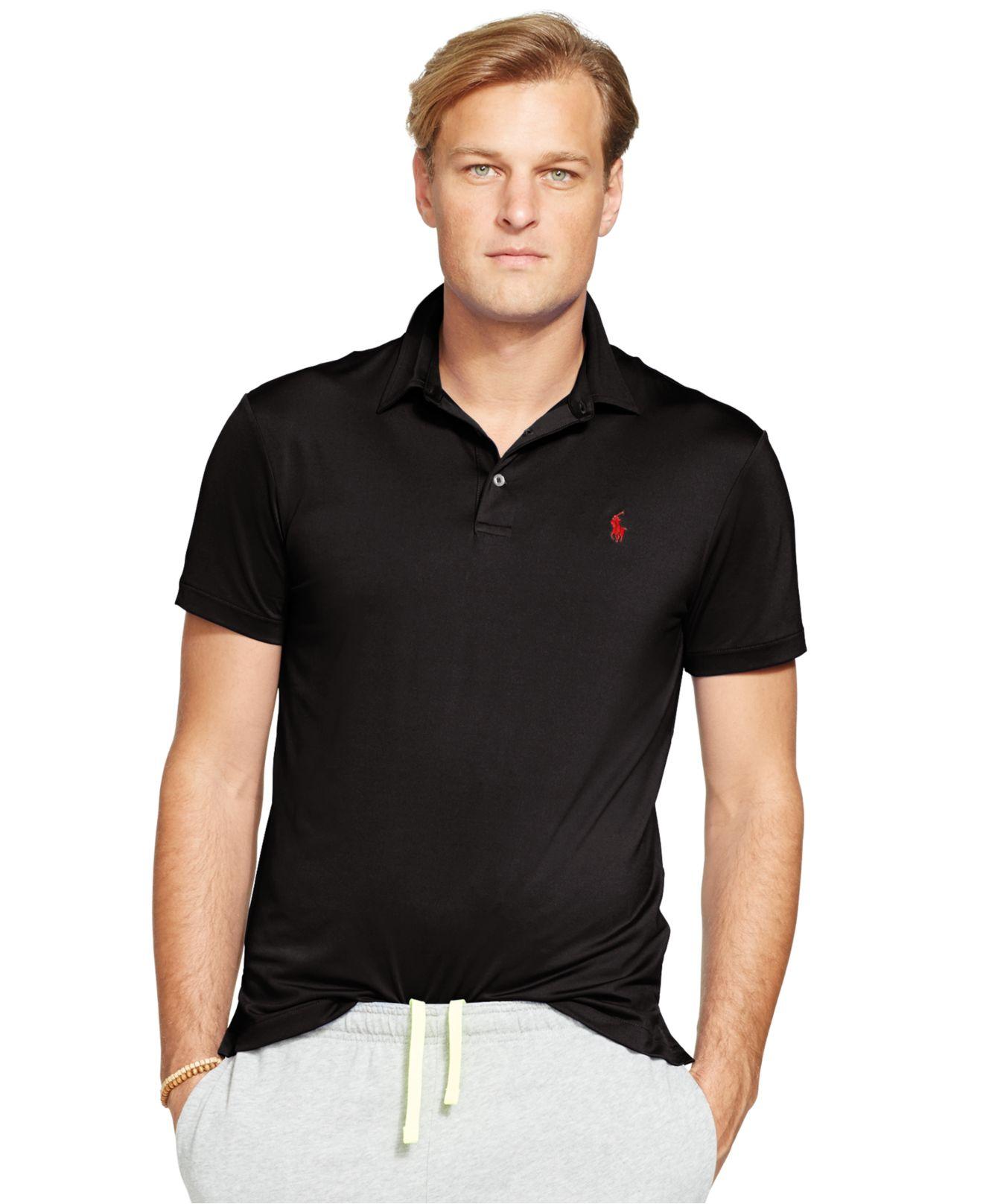 c26056c65b9 Lyst - Polo Ralph Lauren Big   Tall Performance Polo Shirt in Black ...