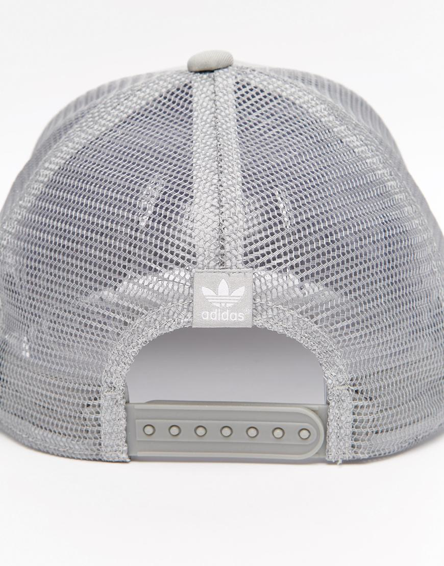 Adidas Originals Trucker Cap In Gray For Men Lyst