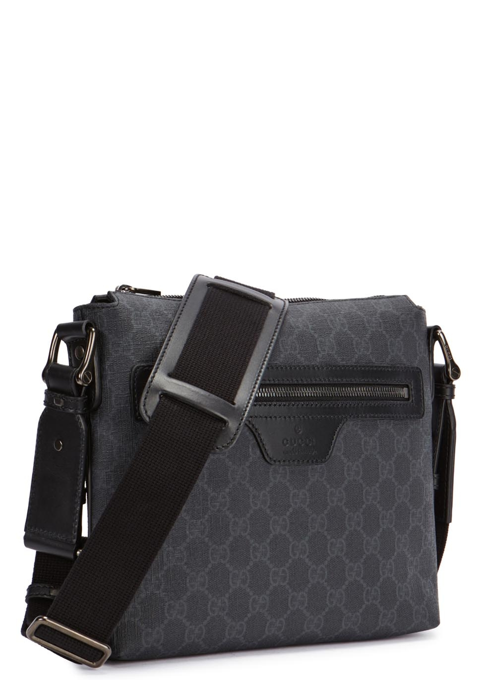 96b0df62bdf8 Gucci Gg Supreme Monogrammed Cross-Body Bag in Black for Men - Lyst