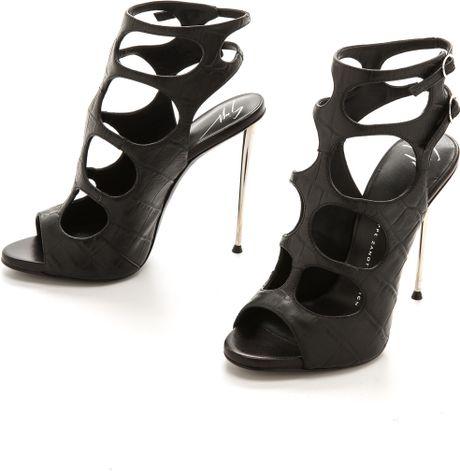 Giuseppe Zanotti Cutout Sandals Black in Black