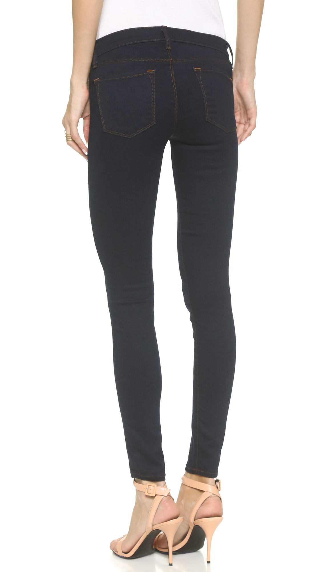 J brand 910 Low Rise Skinny Jeans in Blue