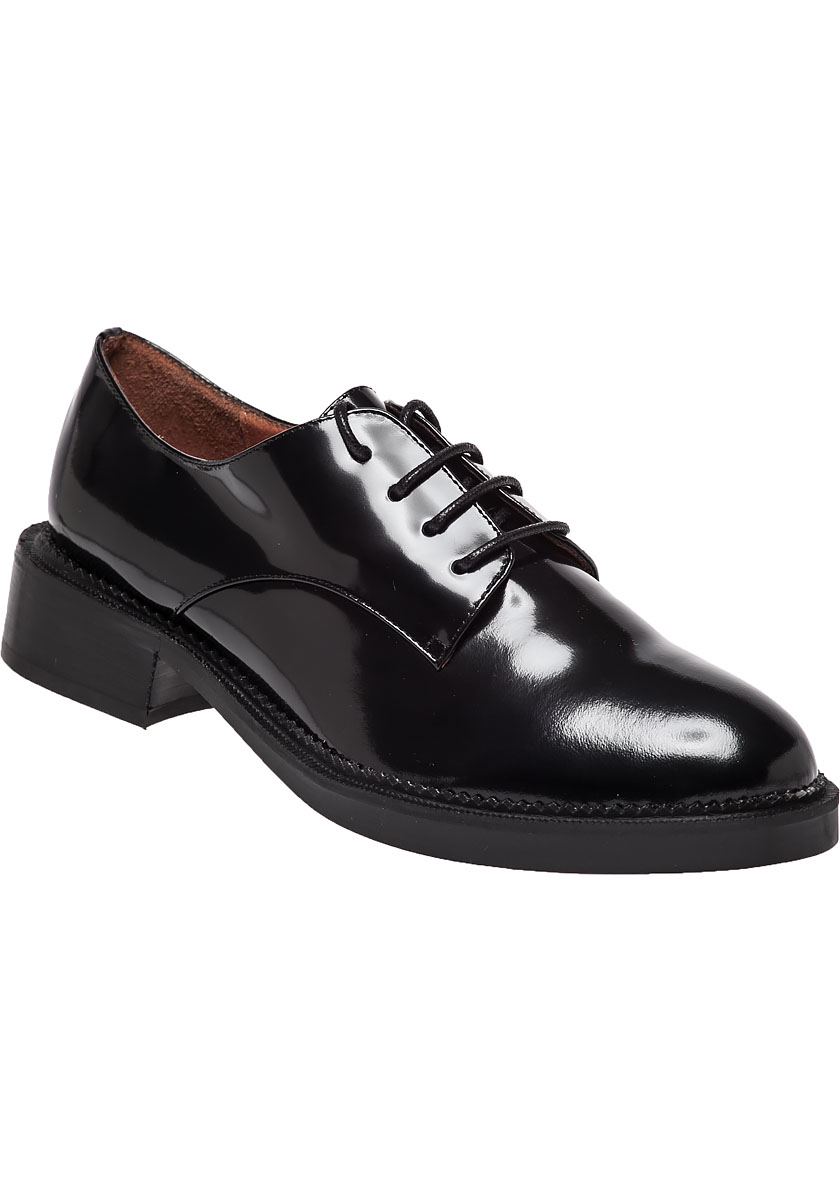 Jeffrey Campbell Valens Leather Oxford Shoes In Black | Lyst
