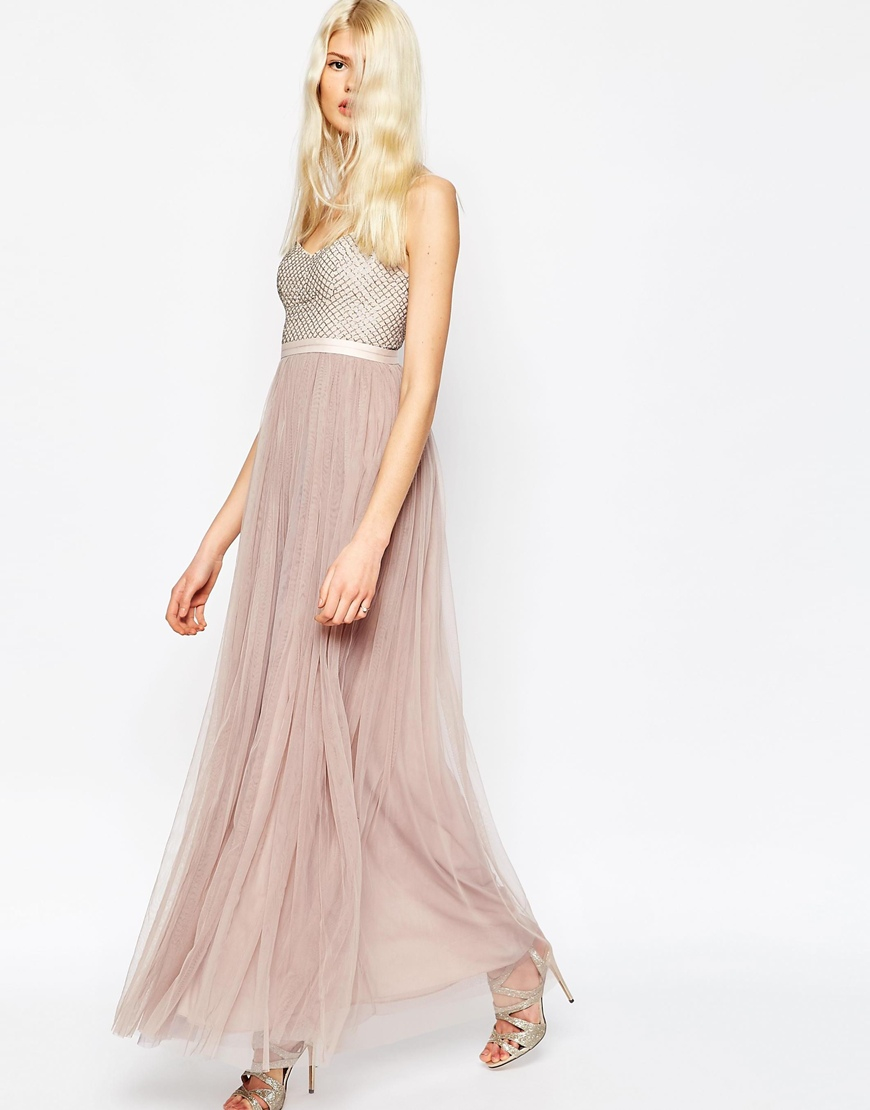 Needle & thread Coppelia Embellished Ballet Tulle Maxi ...