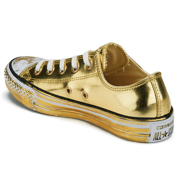 182c064899f9 Converse Women s Chuck Taylor All Star Chrome Leather Ox Trainers in ...