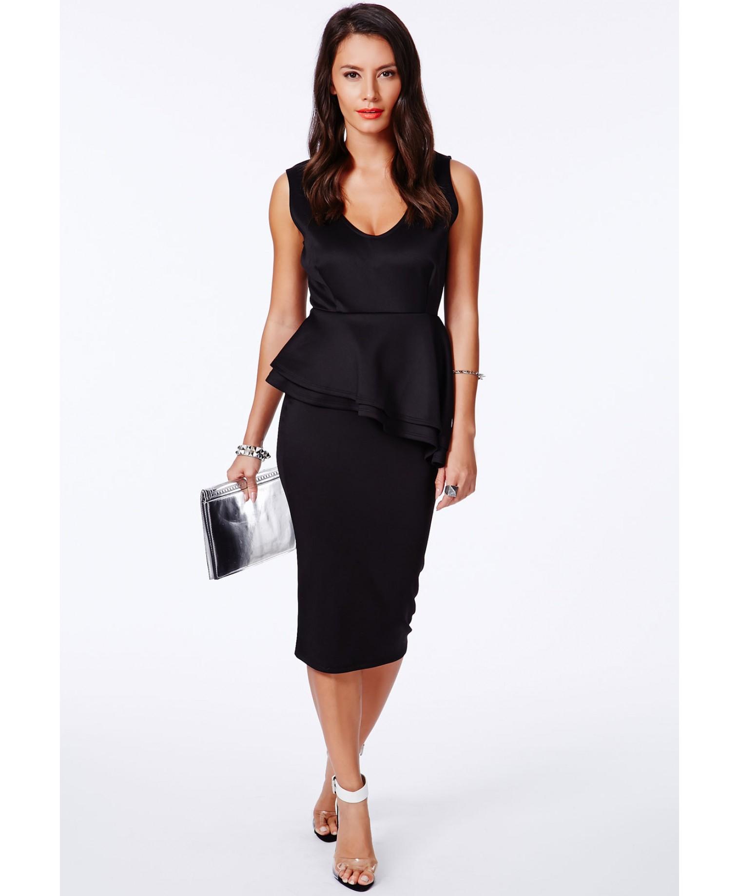 Missguided velvet racer high neck midi dress black in black lyst - Be Inspired