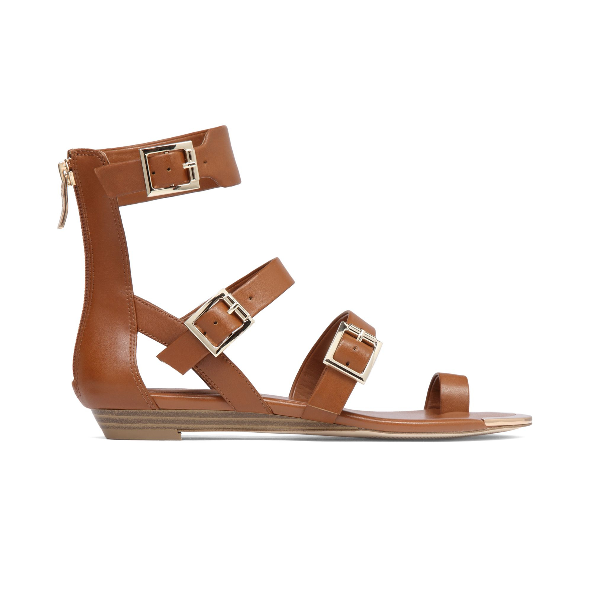 Bcbgeneration Archy Flat Sandals In Brown Lyst