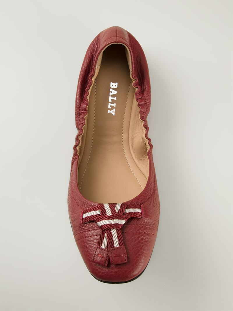 Bally Leather Flats Ao3HPa
