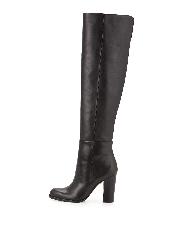 06f6280beda393 Lyst - Sam Edelman Rylan Leather Knee-high Boots in Black
