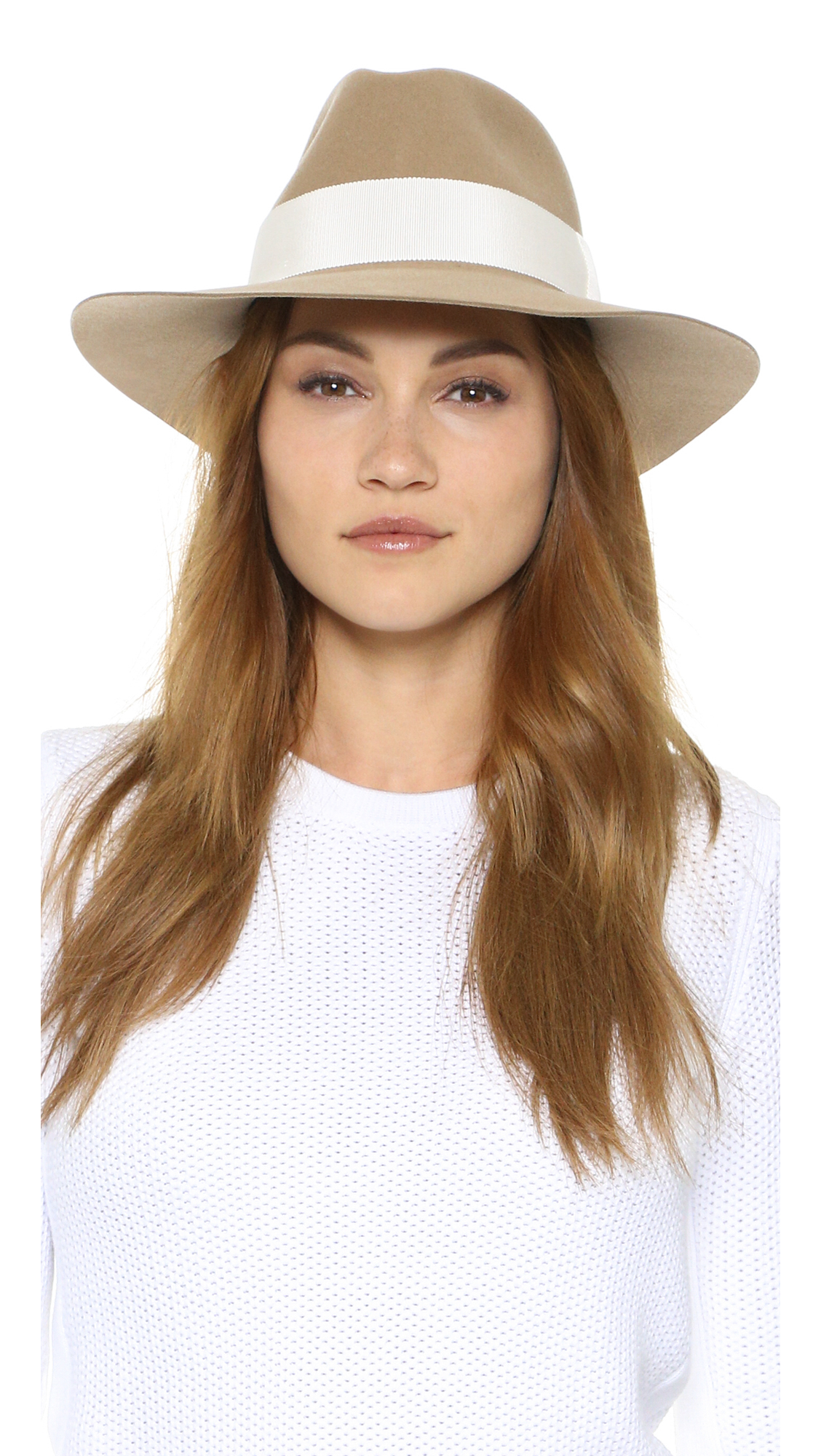 3ea645dd75330 Lyst - Rag   Bone Range Fedora in Brown
