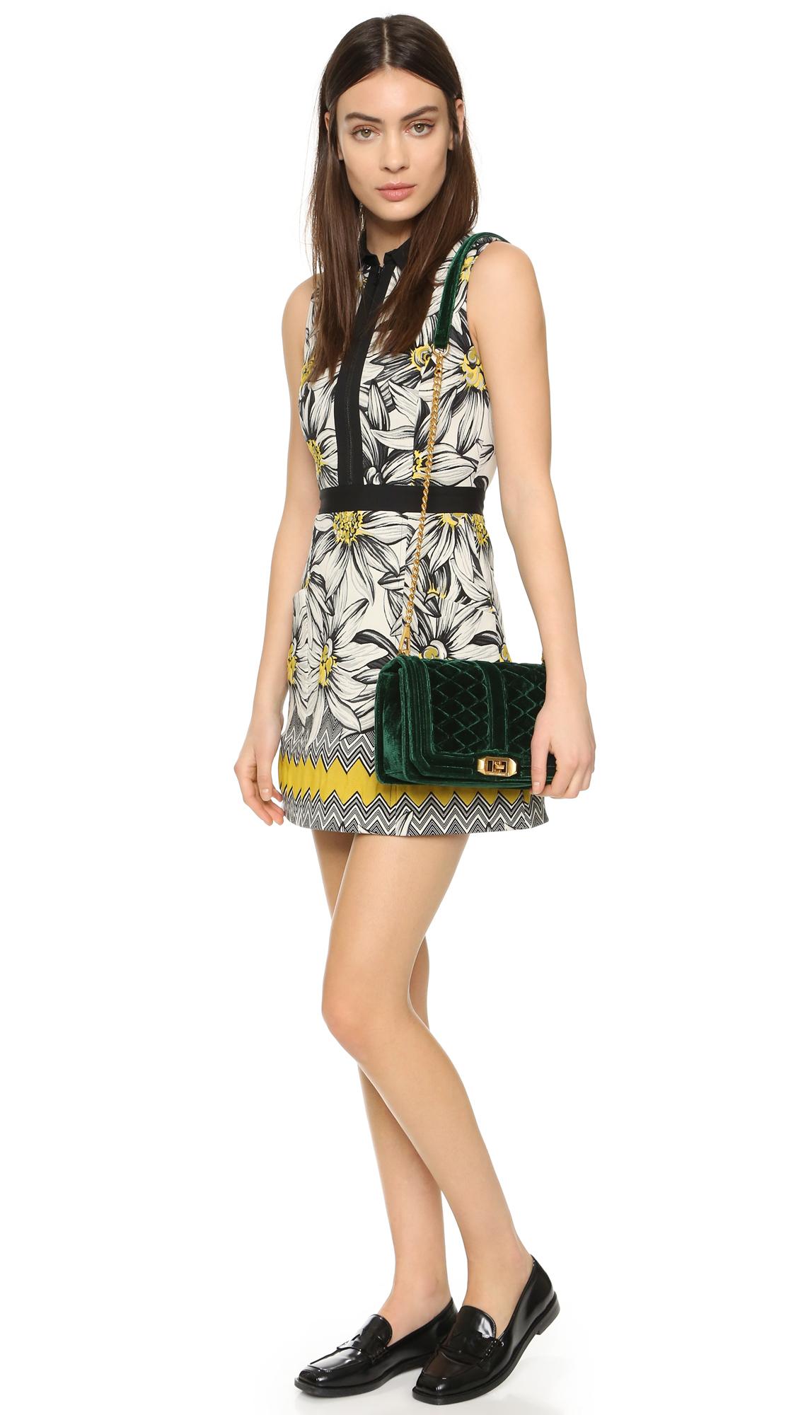 Lyst Rebecca Minkoff Velvet Love Cross Body Bag In Green