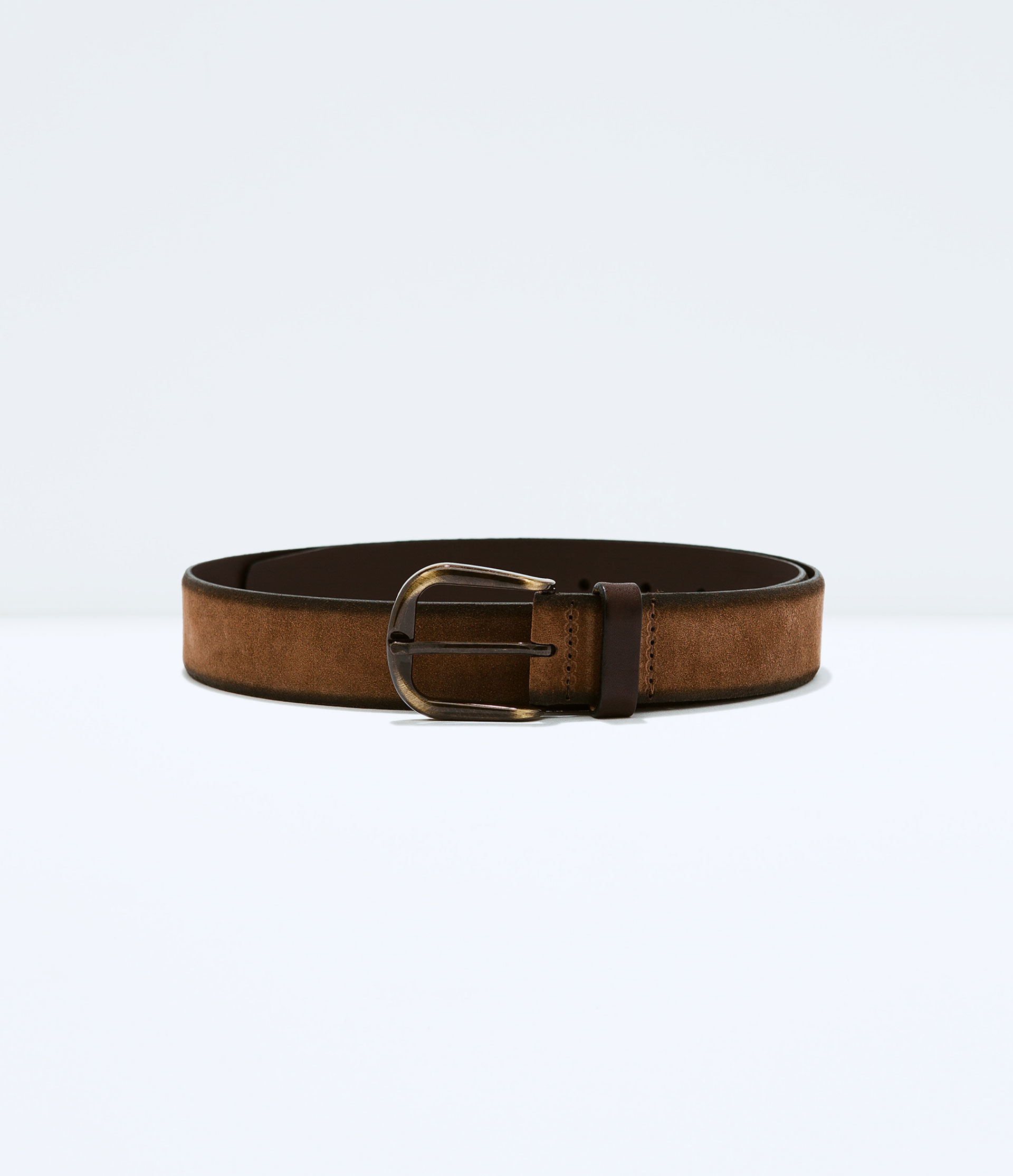 zara suede belt in brown for lyst