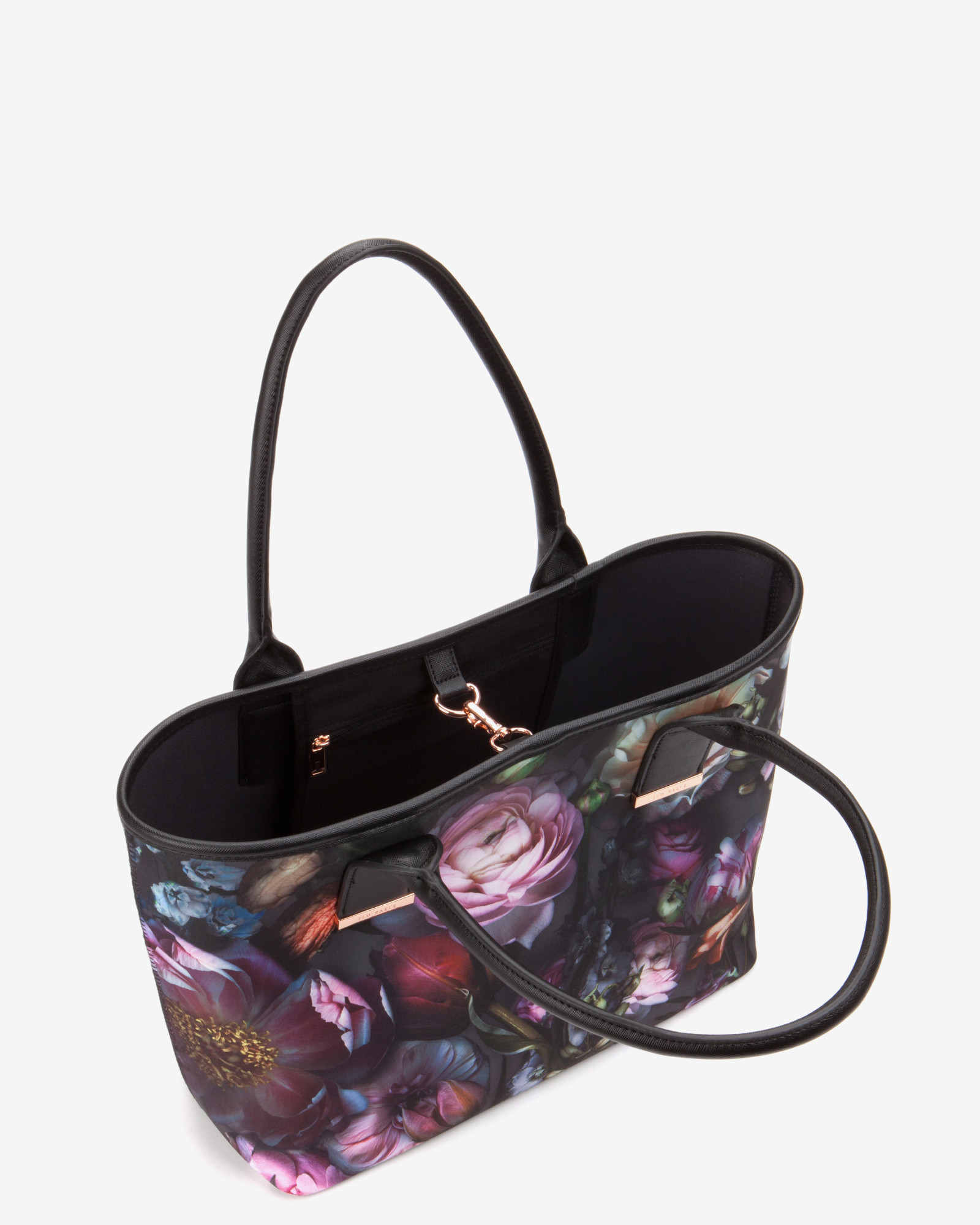 Ted Baker Shadow Floral Print Tote Bag In Gray Lyst