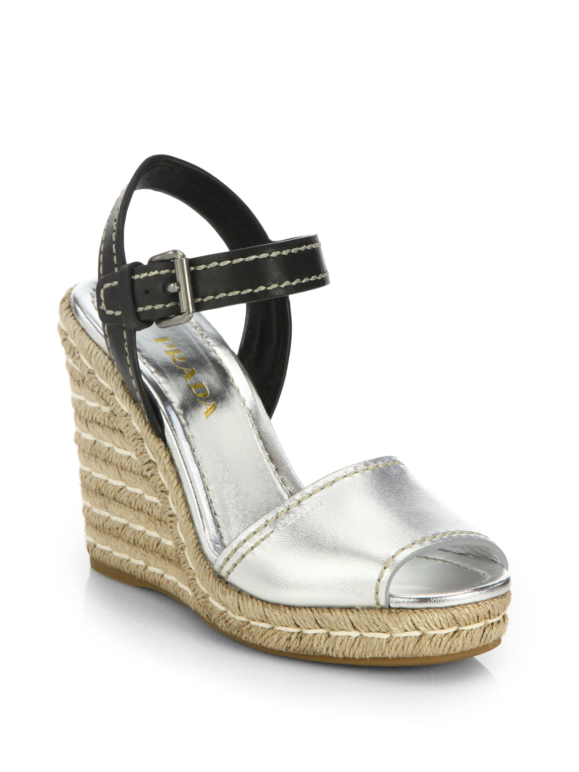 san francisco a8195 c87ff prada-black-leather-metallic-leather-espadrille-wedge-sandals-product-1-27792305-0-905348244-normal.jpeg