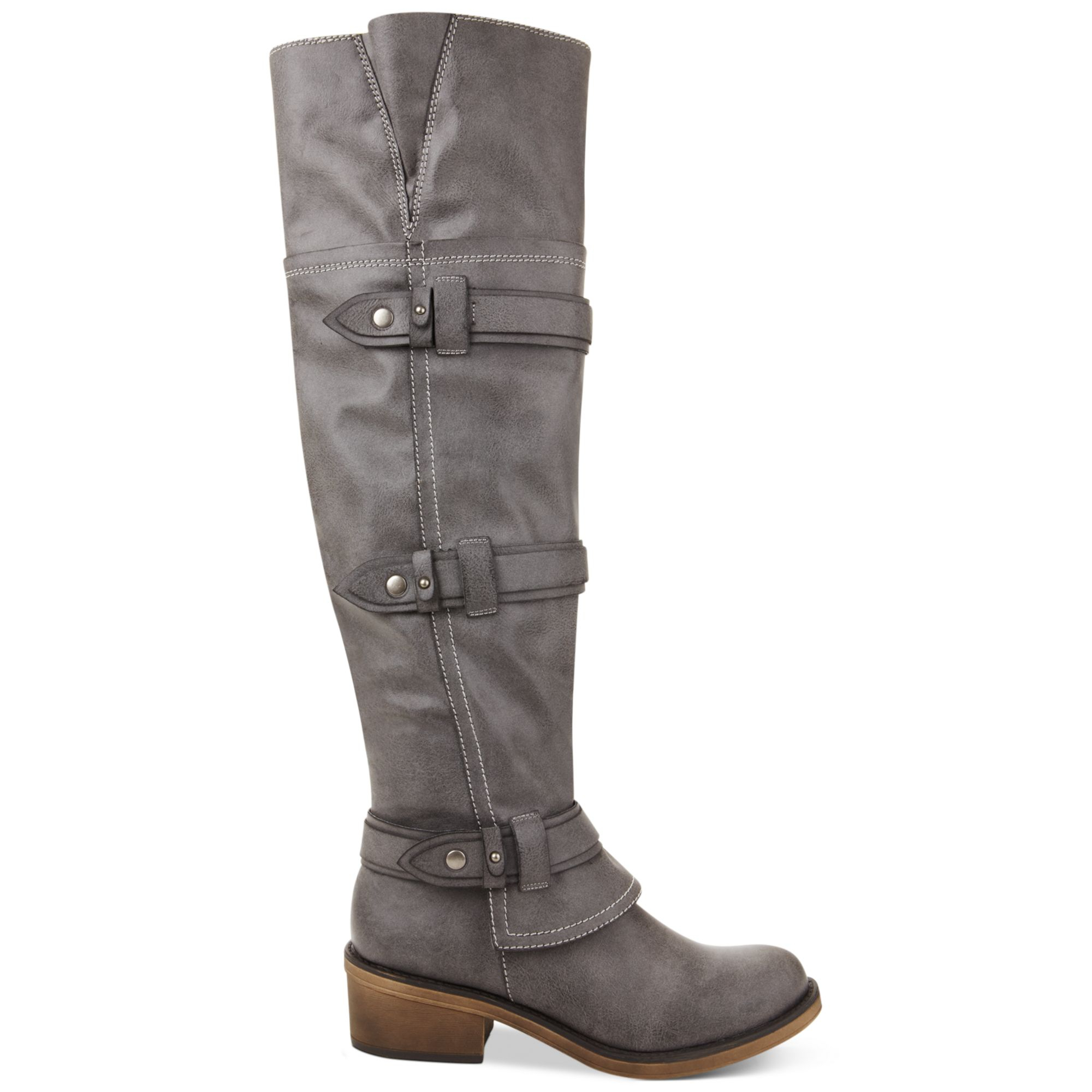 Lyst American Rag Dukee Over The Knee Boots In Gray