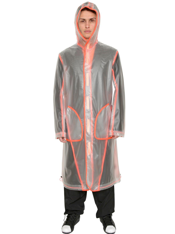 Y 3 Rain Coat W Neon Grosgrain Piping In Red For Men Lyst