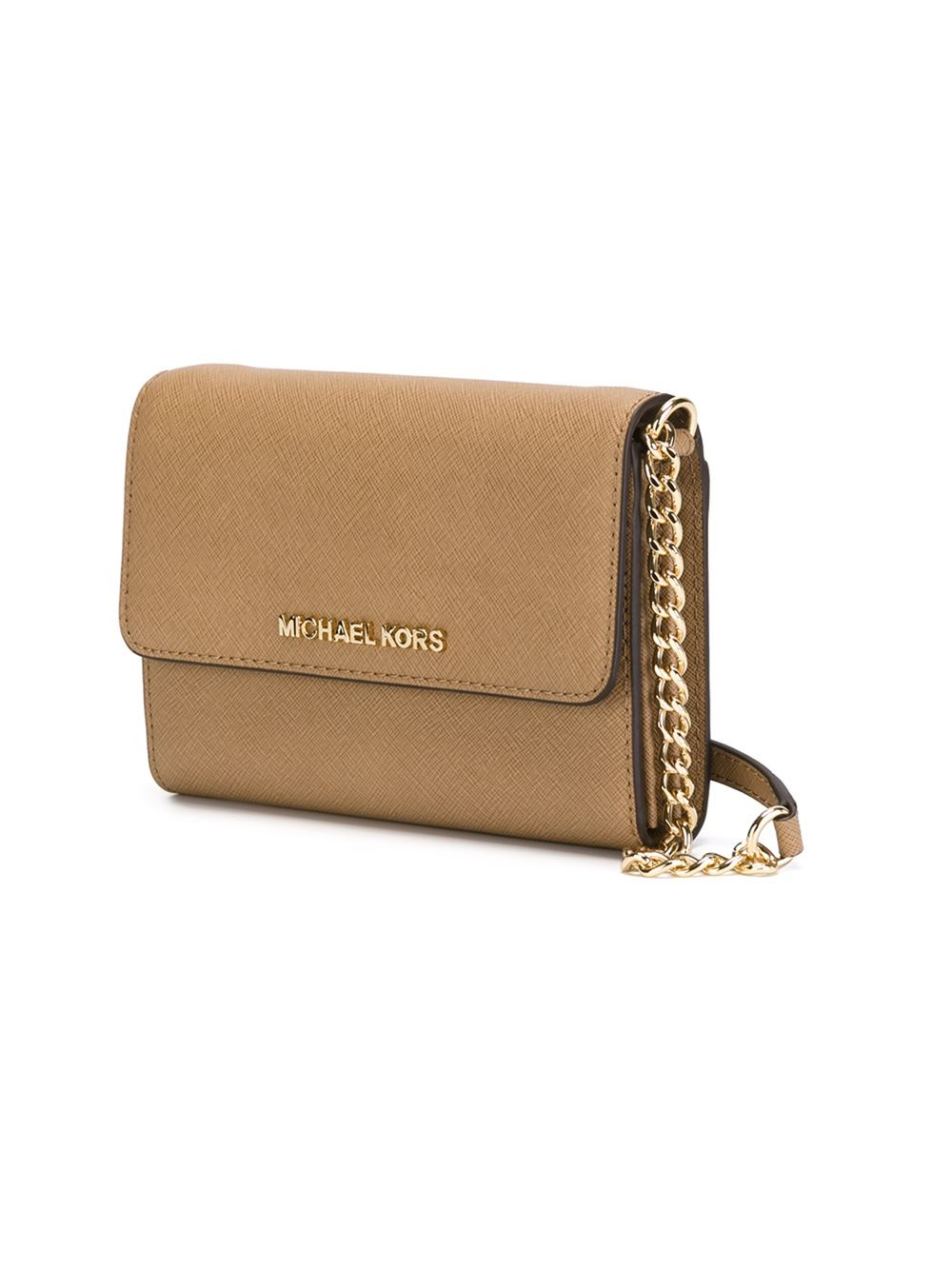 9bad6cc1c0f5 MICHAEL Michael Kors 'jet Set Travel' Phone Crossbody Bag in Natural - Lyst