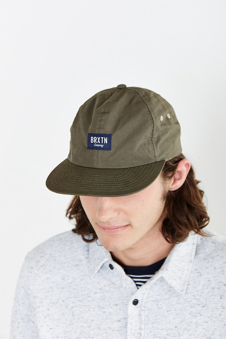 f655a0fb45b Lyst - Brixton Hoover Ii Strapback Hat in Green for Men