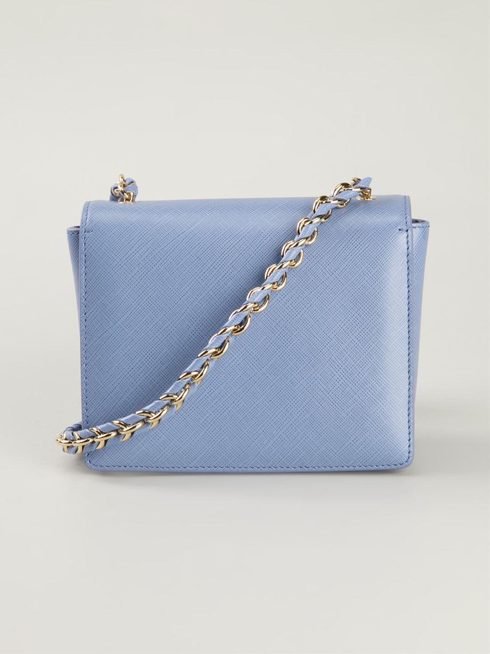 03cd1ac6da25 Ferragamo  Ginny  Crossbody Bag in Blue - Lyst