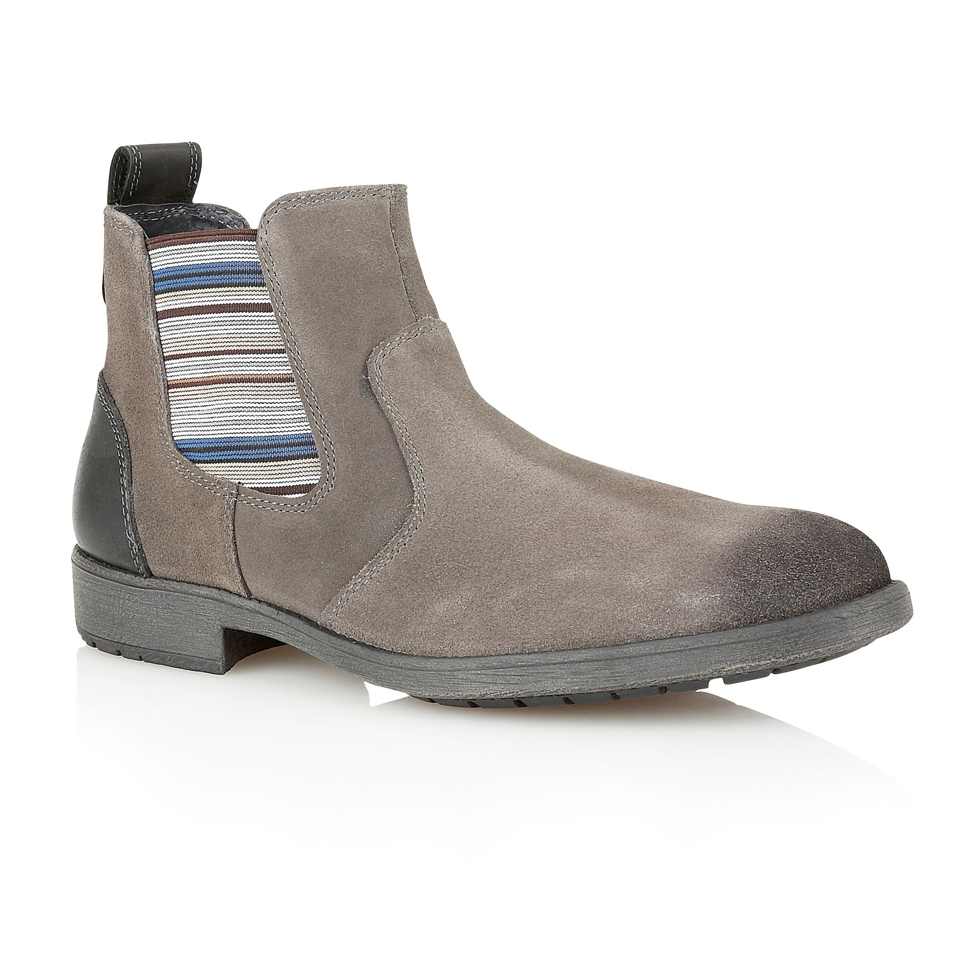 lotus slip on casual chelsea boots in gray for men lyst. Black Bedroom Furniture Sets. Home Design Ideas