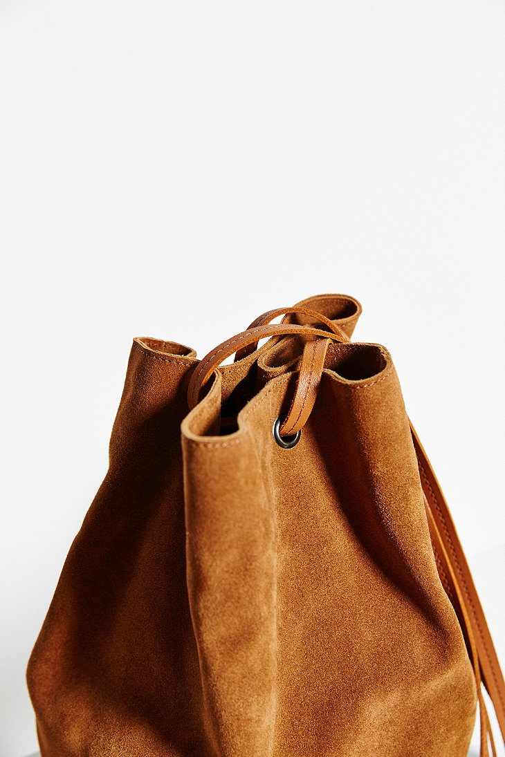 9fd232fea971 Lyst - Kimchi Blue Suede Bucket Crossbody Bag in Brown