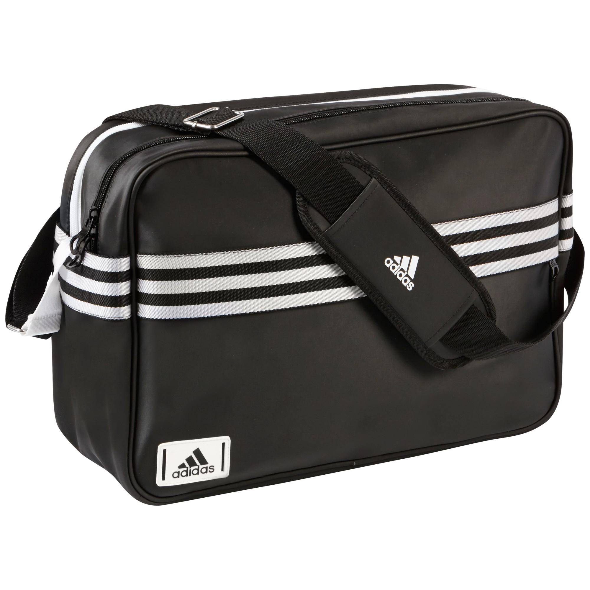 d836831b3ace adidas Enamel Messenger Bag in Black for Men - Lyst