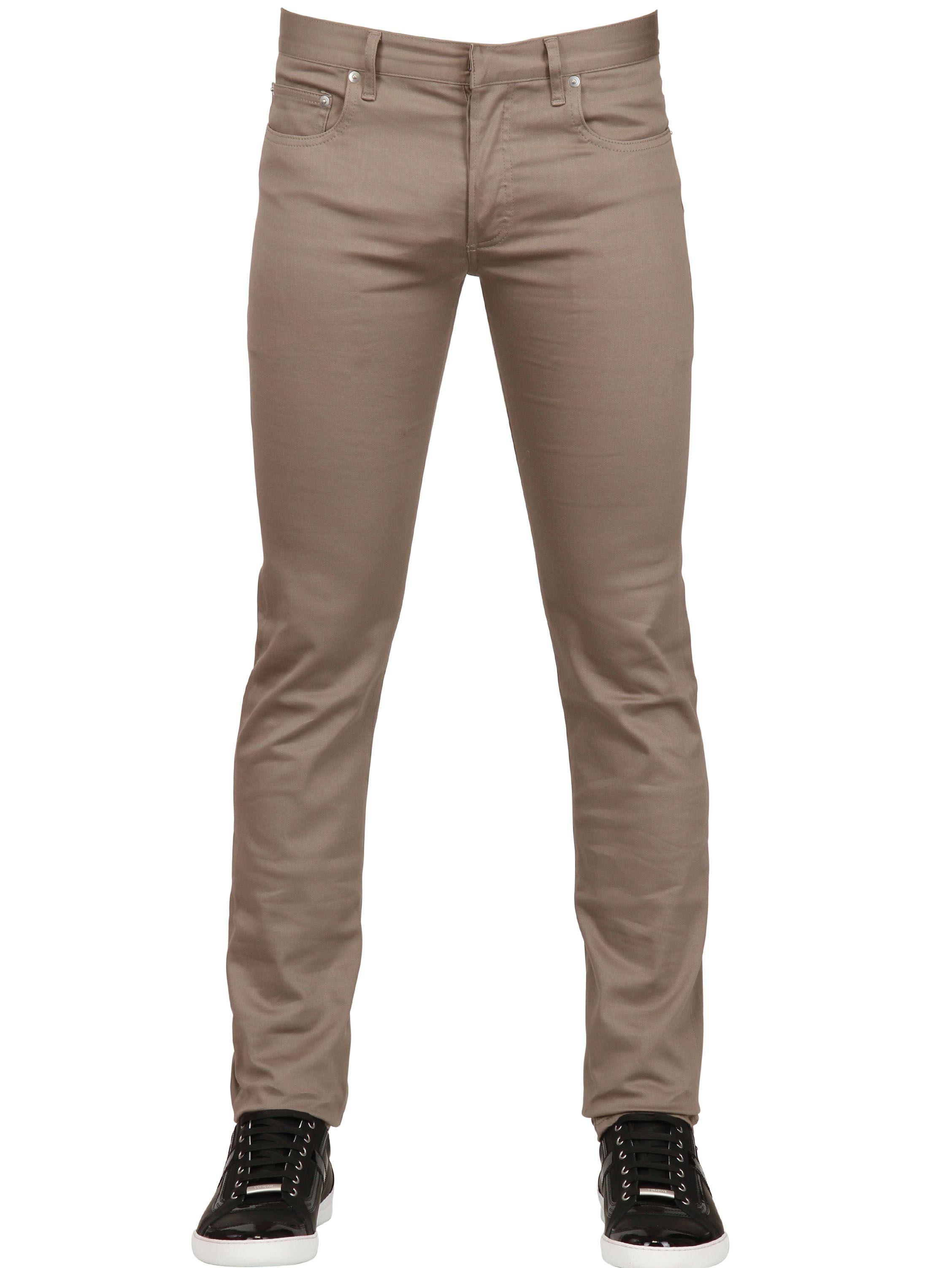dior homme 17 5cm super slender cotton denim jeans in. Black Bedroom Furniture Sets. Home Design Ideas