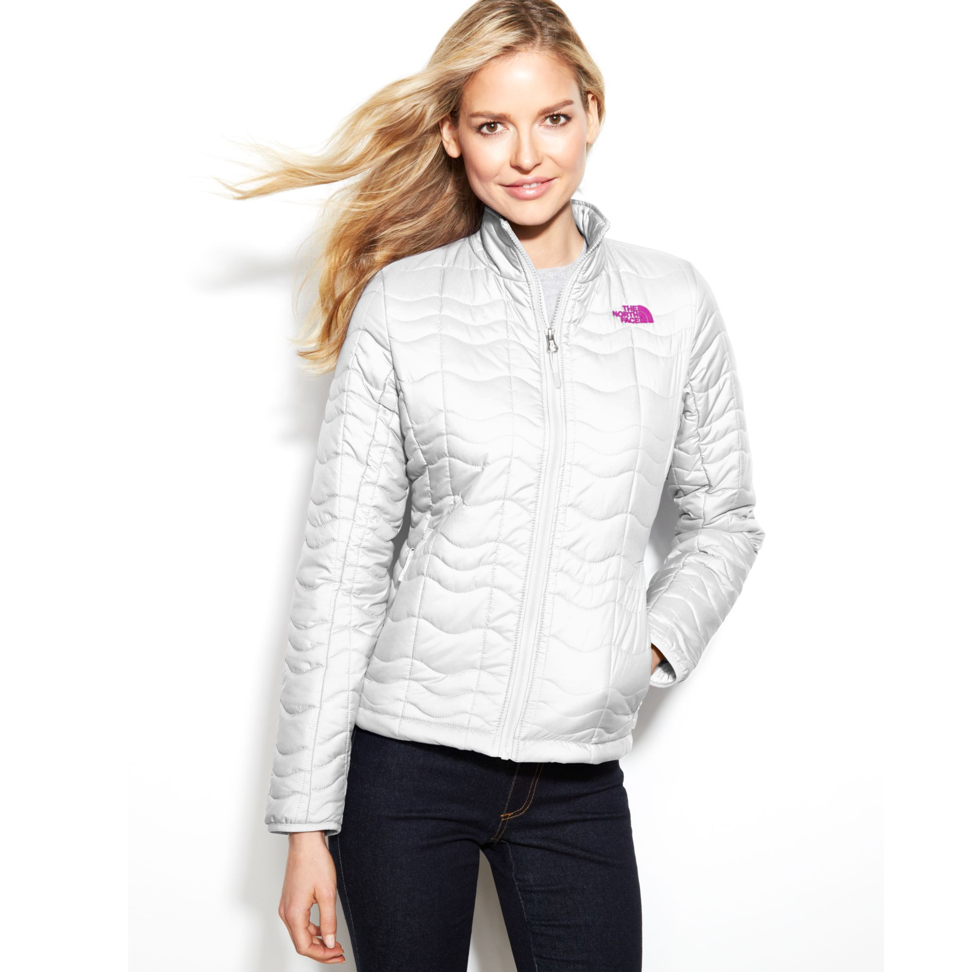 ... coupon lyst the north face bombay quilted jacket in white 5d83d 46a41 63849307a