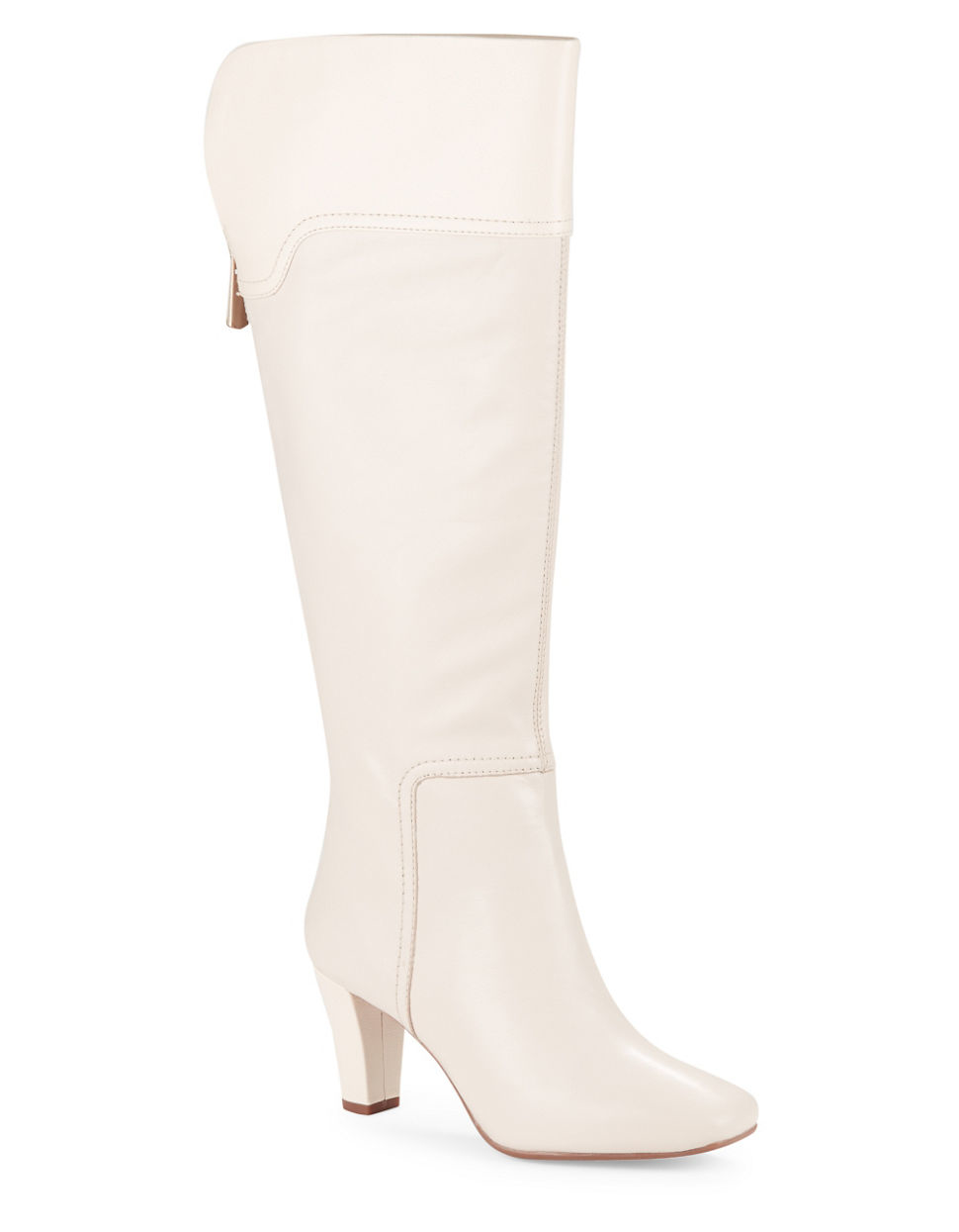 bandolino viet leather knee high boots in white lyst