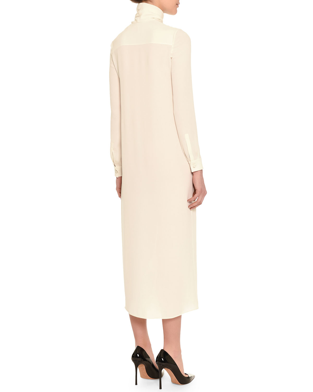 Long-sleeved midi dress Valentino Looking For Perfect Free Shipping 100% Authentic Classic Cool RCspak