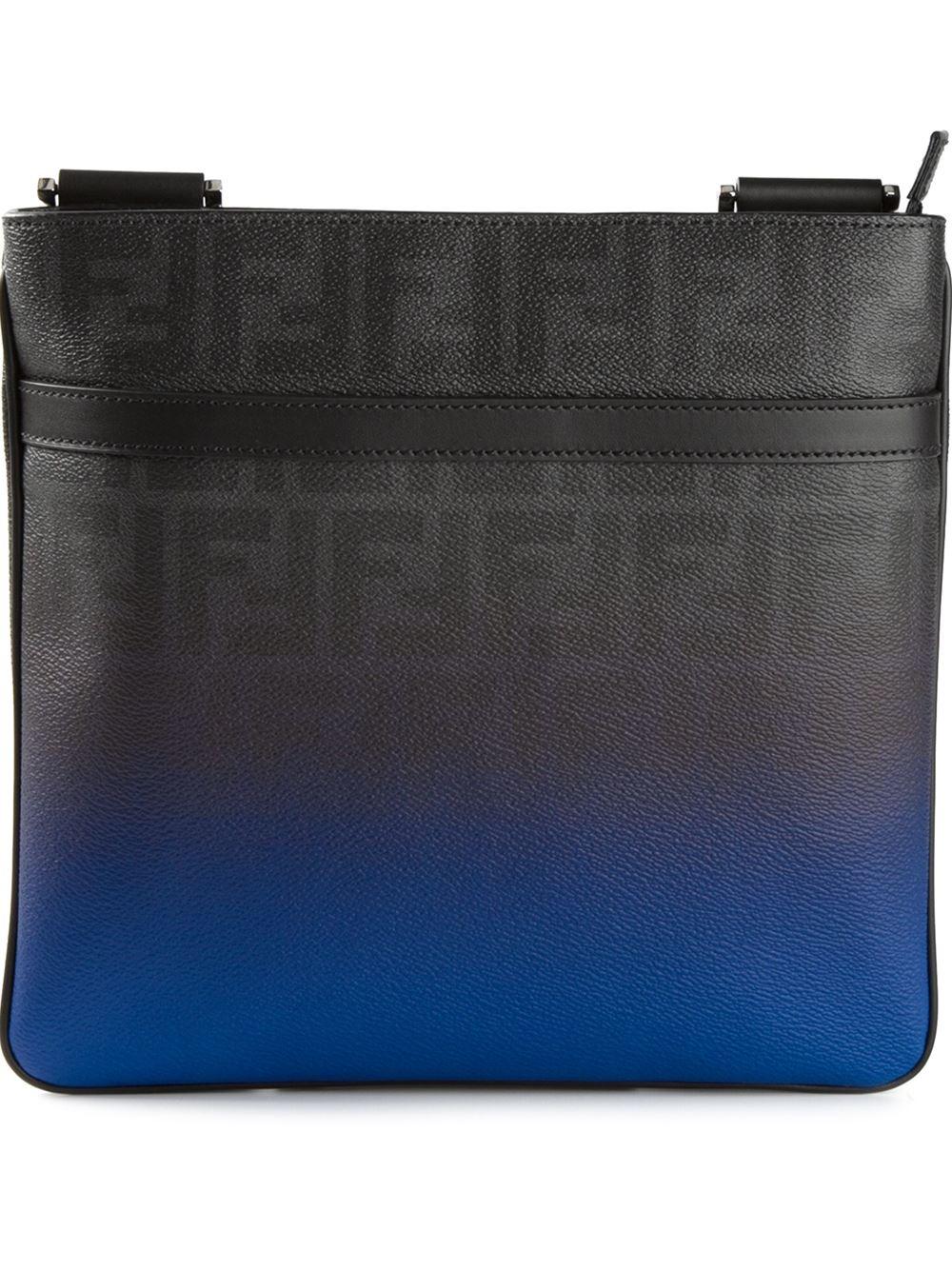 626944cc1b9 usa fendi black selleria leather messenger bag. nextprev. prevnext 67887  52055; denmark fendi flat messenger bag in blue for men lyst 3f728 dabaa