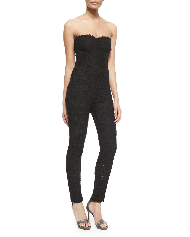 Monique Lhuillier Strapless Jumpsuit W Removable Skirt In