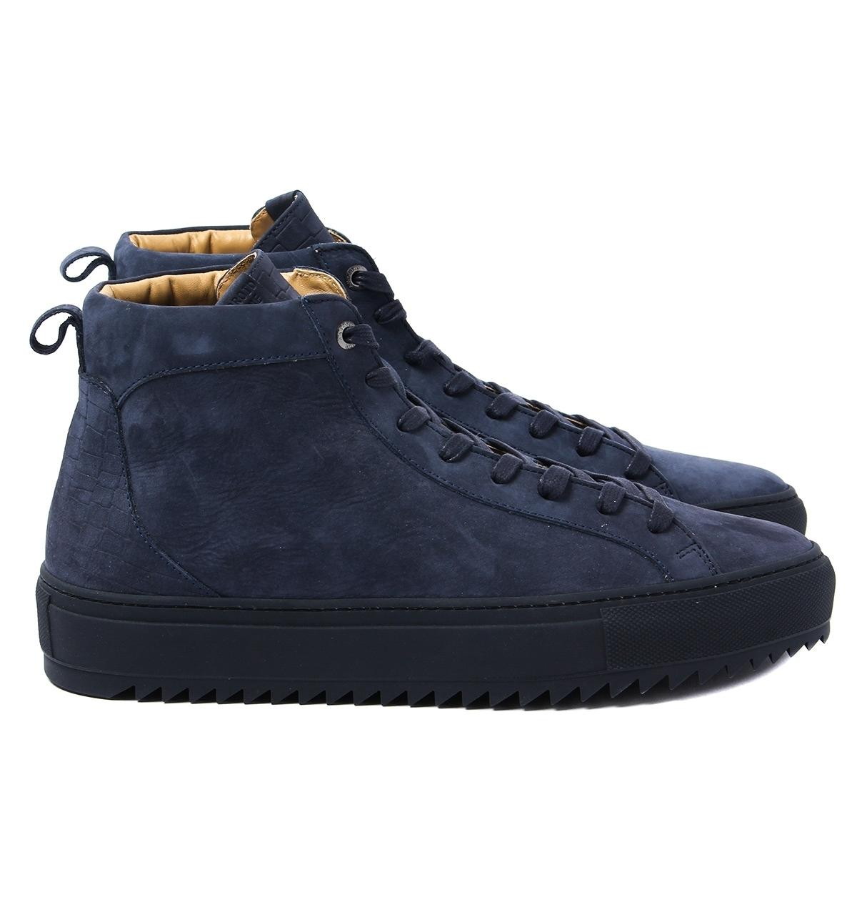 5abbede0c4a42 Lyst - Android Homme Alfa Mid 117 Navy Mid Top Trainers in Blue for Men
