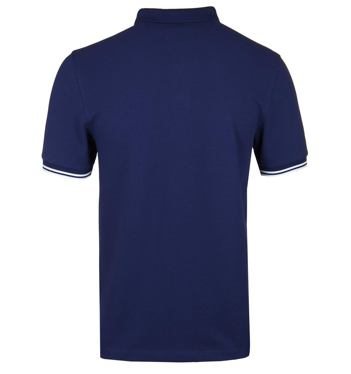 35afecddf0d Fred Perry - Blue Rich Navy Jacquard Short Sleeve Pique Polo Shirt for Men  - Lyst. View fullscreen