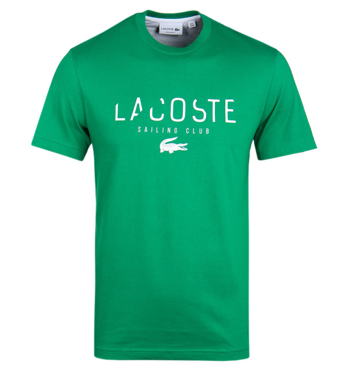 lacoste green sailing club t shirt in green for men lyst. Black Bedroom Furniture Sets. Home Design Ideas
