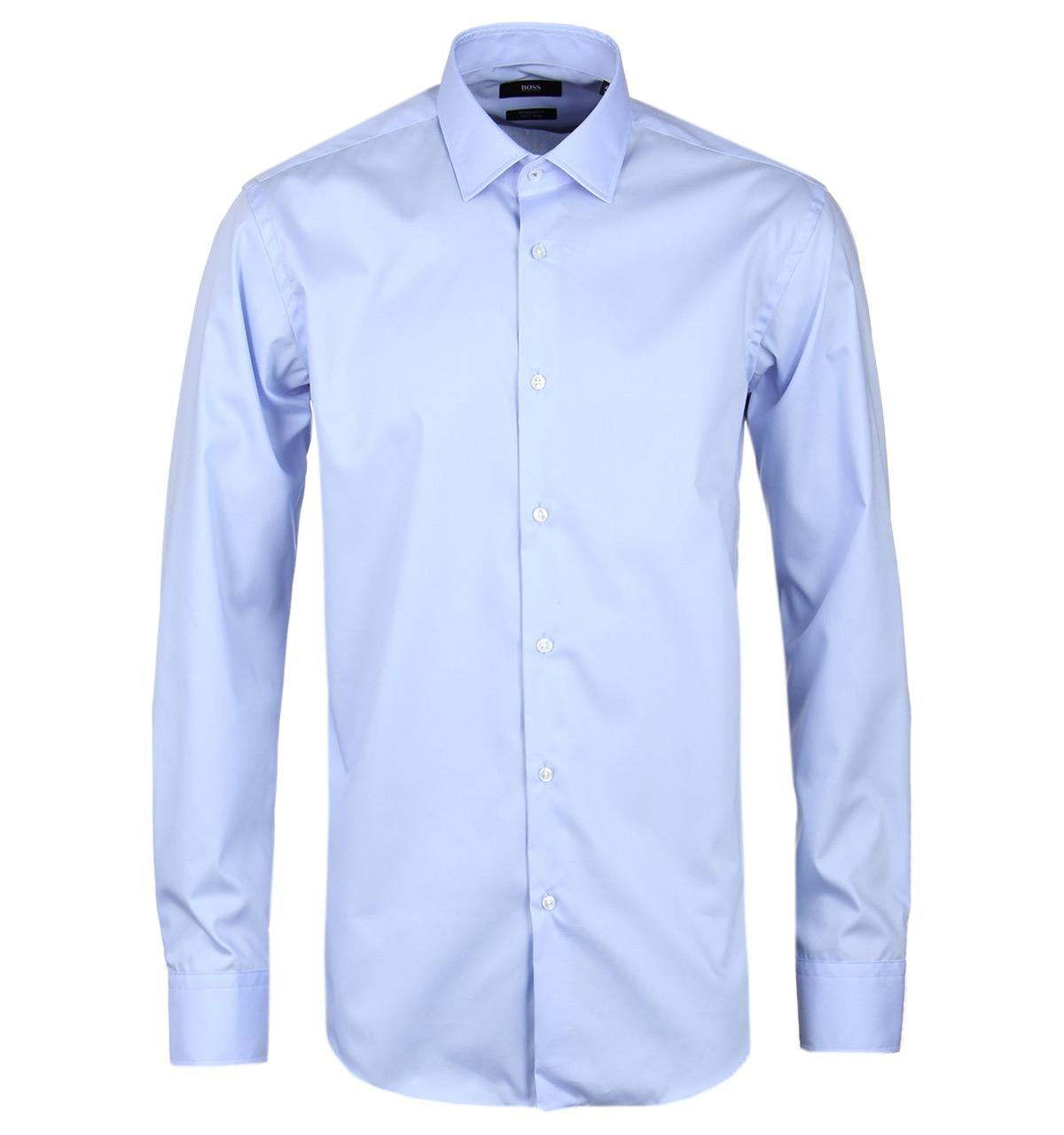 ac183d33 BOSS Gerton Light Blue Regular Fit Easy Iron Shirt in Blue for Men ...