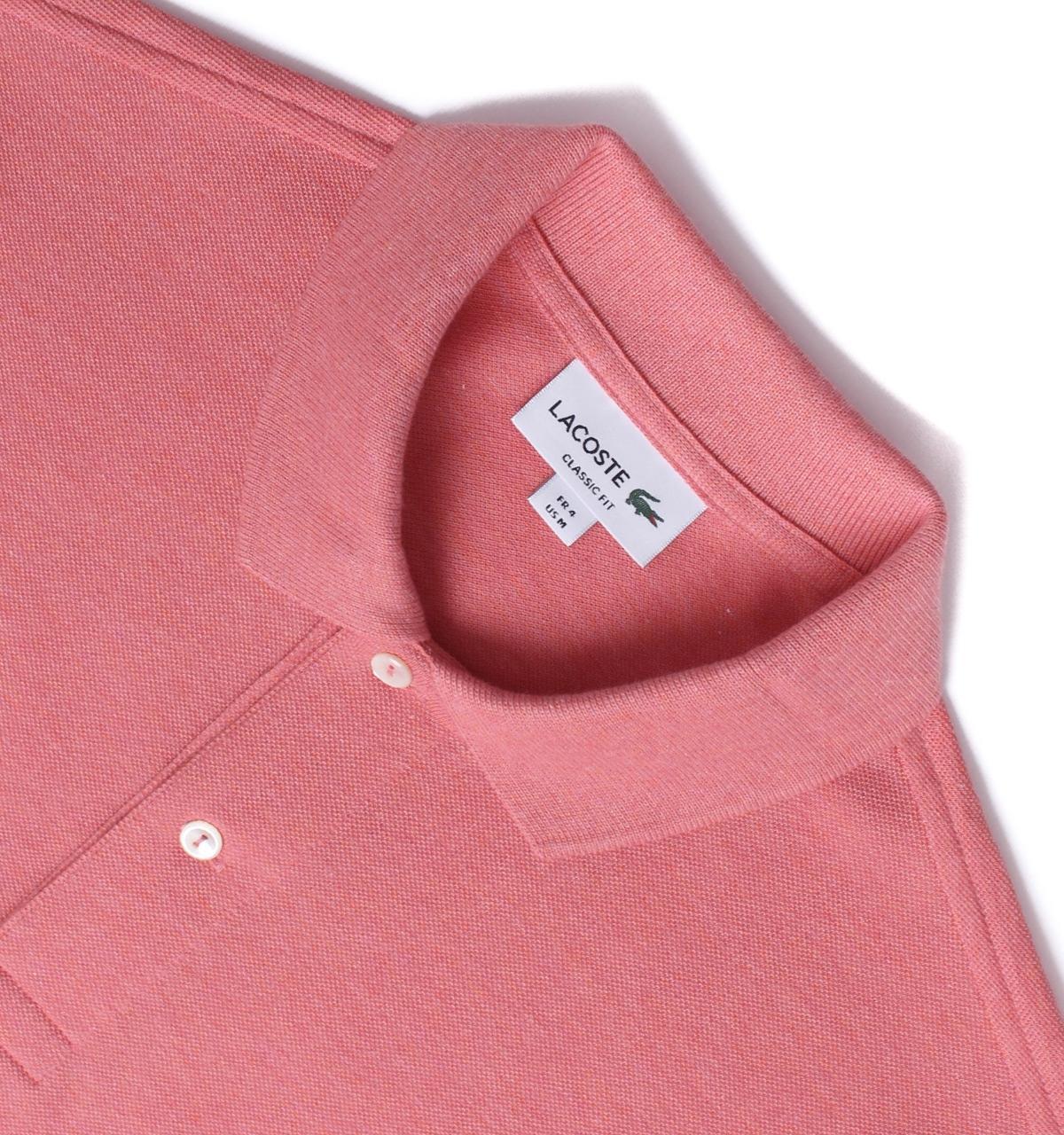 1dc917e8f330e Lacoste - Rosa Pink Marl Classic Fit Pique Polo Shirt for Men - Lyst. View  fullscreen