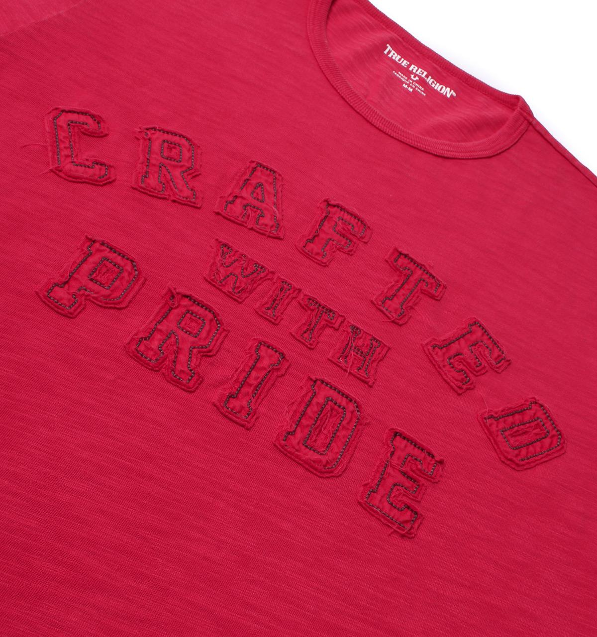 fa827667 Lyst - True Religion Crafted With Pride Ruby Red Applique T-shirt in ...